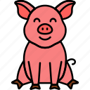 animal, farm, pig, piggy icon