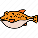 animal, fish, fugu, puffer icon