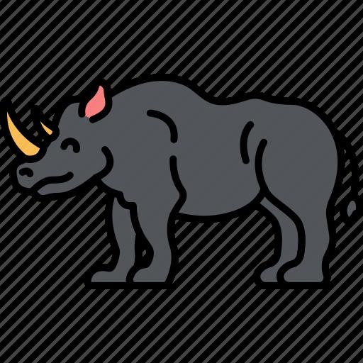 Animal, rhino, rhinoceros, horn icon - Download on Iconfinder