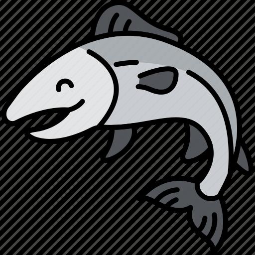 Animal, fish, salmon, river icon - Download on Iconfinder