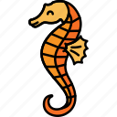 animal, hippocampus, sea, seahorse icon