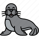 animal, mammal, sea, seal icon