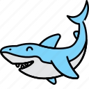 animal, fish, sea, shark icon