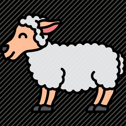 Lamb, sheep, wool, animal icon - Download on Iconfinder