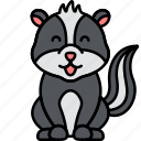 animal, skunk, stink, stripe icon