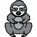 animal, gray, lazy, sloth icon