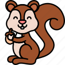 animal, autumn, rodent, squirrel icon