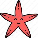 sea, starfish, animal, star icon