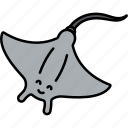 animal, fish, sea, stingray icon