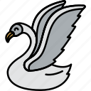 animal, bird, swan, water icon