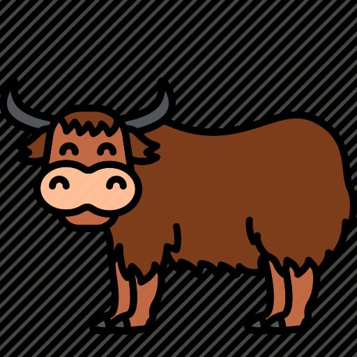 Buffalo, bull, yak, animal icon - Download on Iconfinder