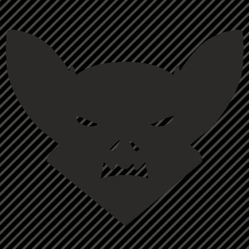 animal, bat, face, skin icon
