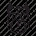 animal, avatar, dog, face icon