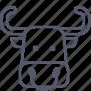 bull, cow, domestic, milk, peasant