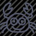 crab, food, funny, happy, sea icon