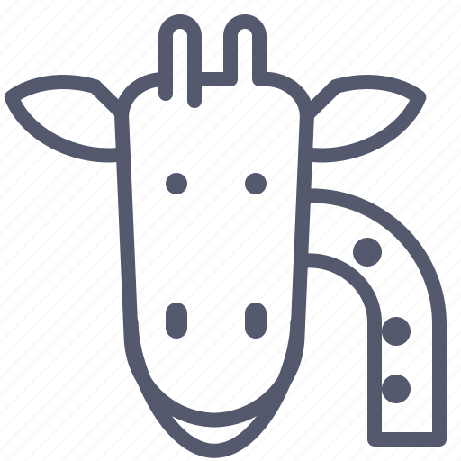 giraffe, longlife, neck, zoo icon