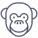 face, happy, monkey, smile icon