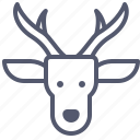 christmas, forest, horns, reindeer, santa icon
