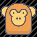 baboon, monkey, pet, serious, zoo icon