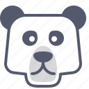bear, cold, ice, polar, zoo icon