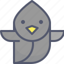 bird, fly, speed, travel, tweet icon