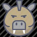 boar, hunt, meat, wild, zoo icon