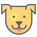 baby, cute, dog, friend, pet, tongue icon