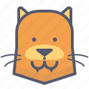 dog, fox, friend, smile icon