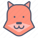 fox, sneaky, thief, zoo icon
