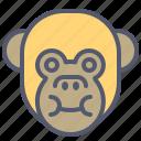 eat, face, food, full, monkey, smile icon