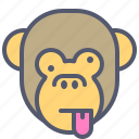 face, monkey, naughty, smile, tongue