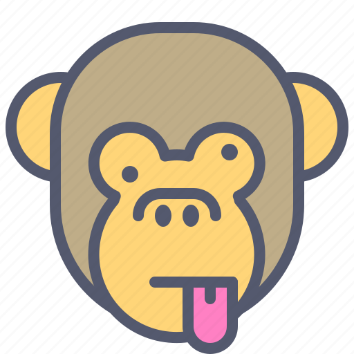 Face, monkey, naughty, smile, tongue icon - Download on Iconfinder