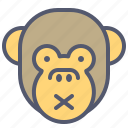 face, monkey, noise, silent, smile, tranquility