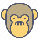 face, faceless, monkey, mouthless, peace, silent, smile icon