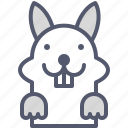 field, happy, jump, rabbit, run icon