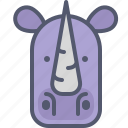 fat, hornet, huge, rhino, zoo