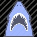 aquarium, attack, aware, danger, shark icon