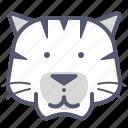 hunter, siberian, tiger, white, wild, zoo icon