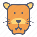 cat, female, tiger, tigress icon