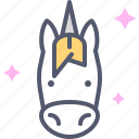 fantasy, horse, kid, princess, toy, unicorn, zebra icon
