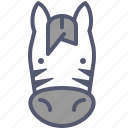 circus, horse, ride, zebra, zoo icon