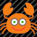 crab, food, funny, happy, sea