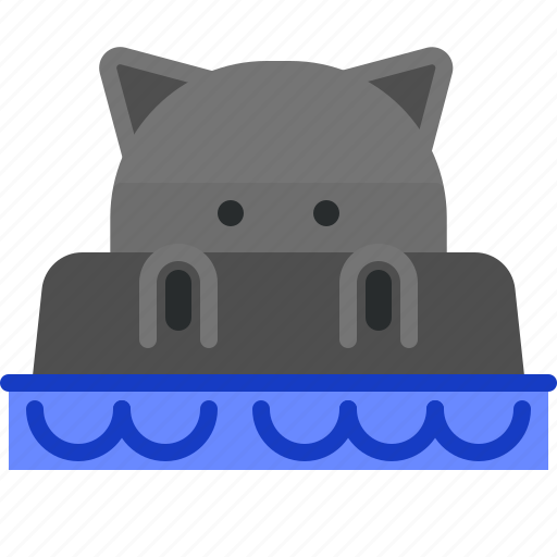 Hippo, pool, rest, swim, water, zoo icon - Download on Iconfinder