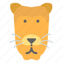 female, lioness, mother, zoo icon