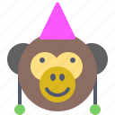 circus, face, monkey, party, show, smile