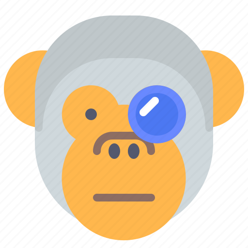 Experiment, face, glasses, monkey, science, smile, study icon - Download on Iconfinder