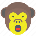 face, loud, monkey, scream, shout, smile