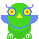 curious, learner, owl, study icon
