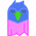 bird, calm, parrot, rest, sleep icon