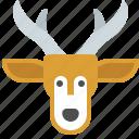 christmas, forest, horns, reindeer, santa icon